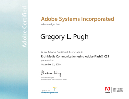 adobe certification test